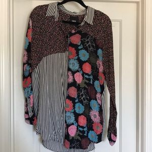 ASOS floral and striped blouse